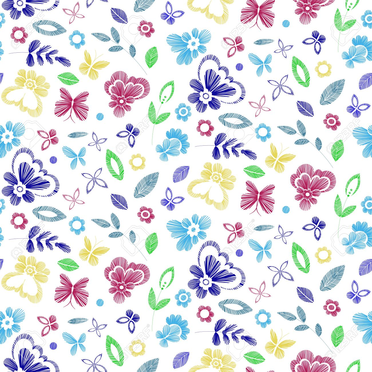 Floral seamless background pattern with fantasy flowers line floral seamless background pattern with fantasy flowers line art vector colorful illustration hand drawn jeuxipadfo Image collections