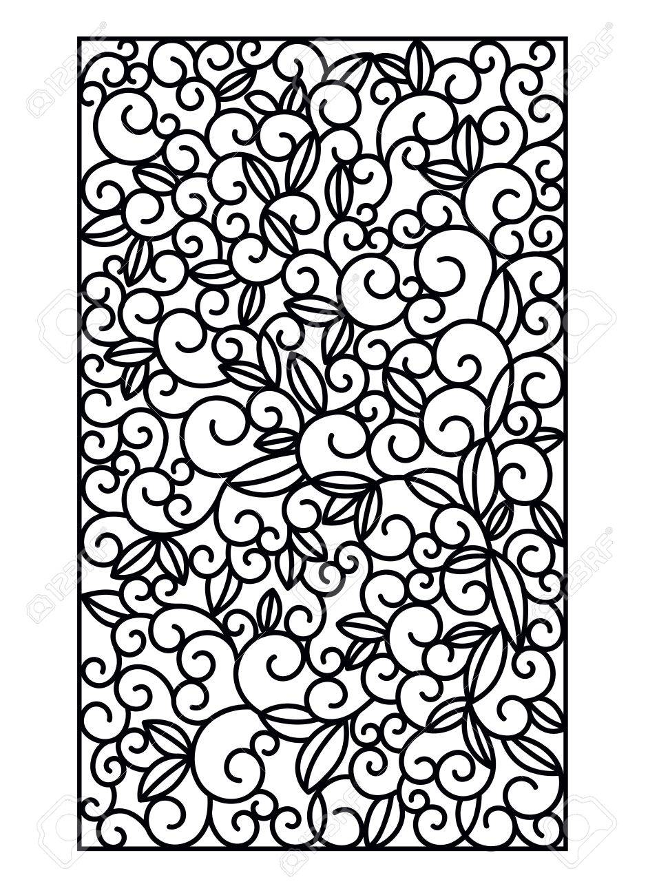 Laser Cut Vector Panel. Cutting Paper, Wood, Metal. Swirls Vector ... for Laser Cut Designs Paper  111bof