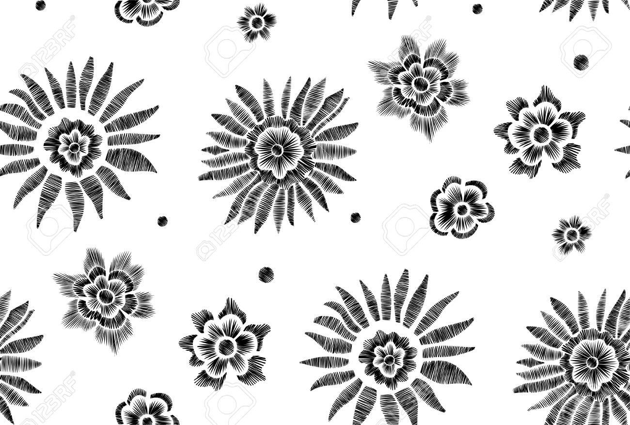 Floral Patrón De Fondo Transparente Con Flores Y Hojas De Fantasía ...