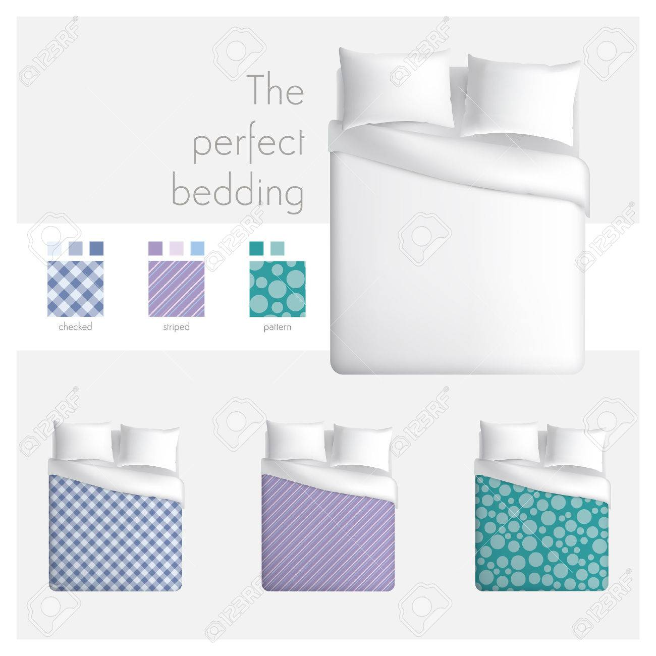 Bed Top View Furniture The Perfect Bedding Stock Vector In Inspiration