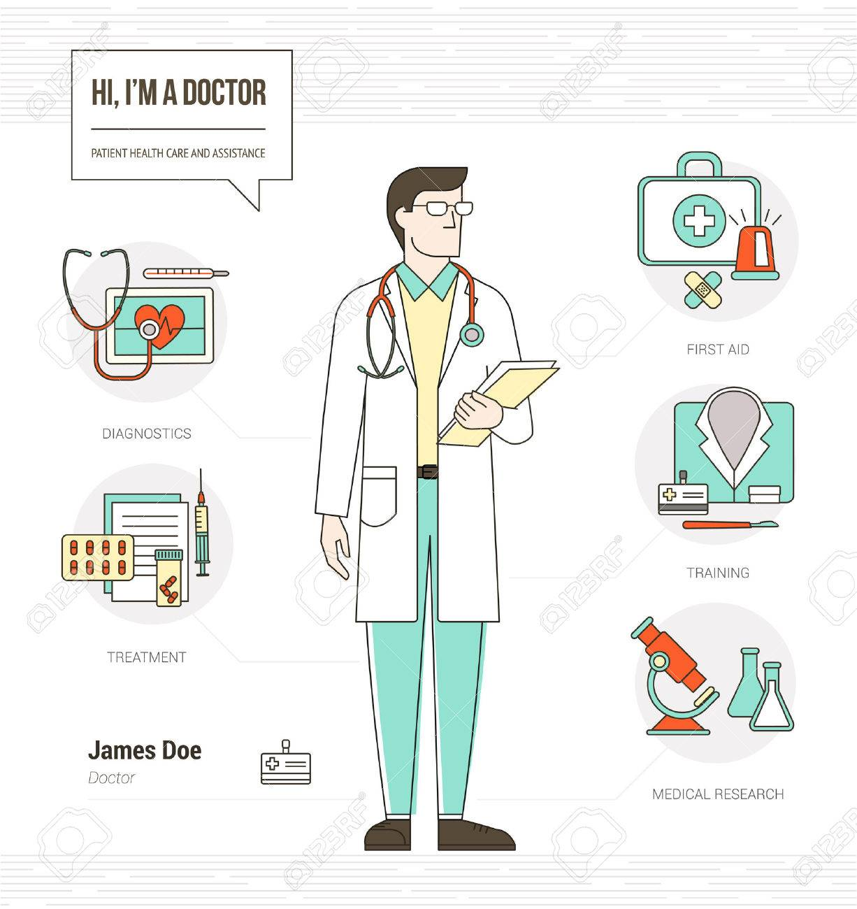 Professional Doctor Infographic Skills Resume With Tools, Medical ...
