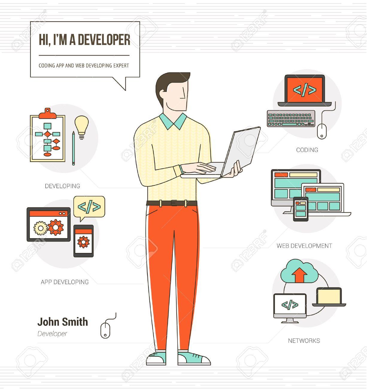 Desarrollador Profesional Y Programador Habilidades Infográficas ...