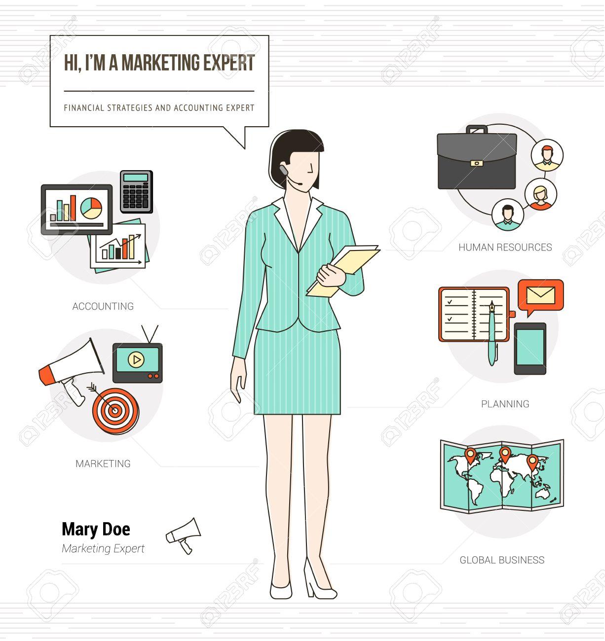 Expertos De Marketing Profesional Habilidades Infográficas Reanudan ...