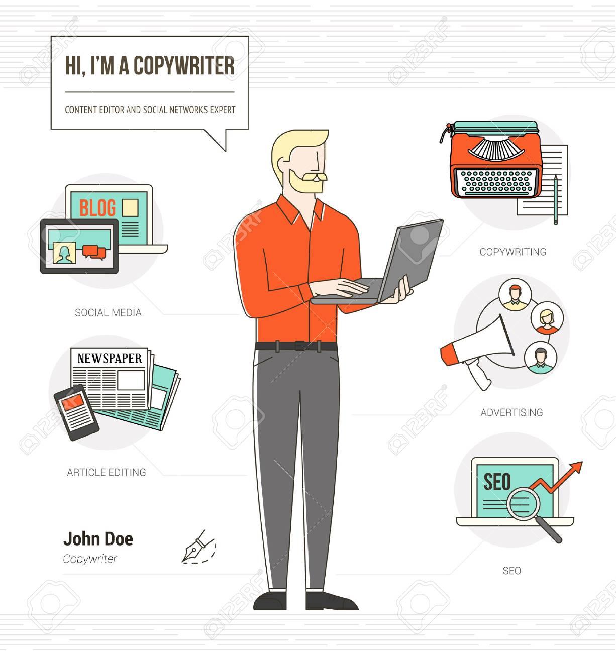 Redactor Profesional Habilidades Infográficas Reanudan Con Iconos Y ...
