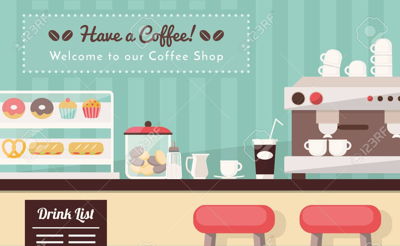 70,360 Coffee Shop Stock Illustrations, Cliparts And Royalty Free ...