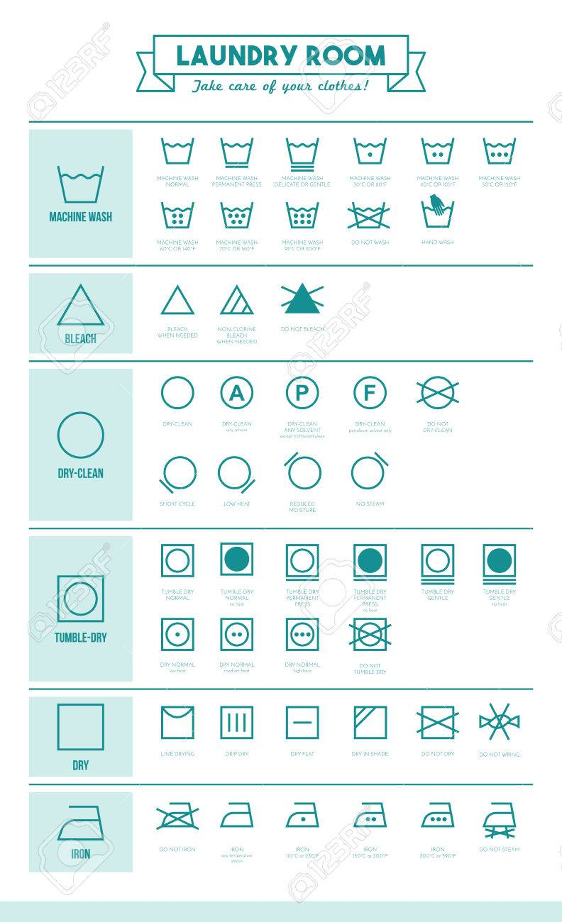 Laundry and washing clothes symbols with texts poster royalty free laundry and washing clothes symbols with texts poster stock vector 48004817 biocorpaavc Images