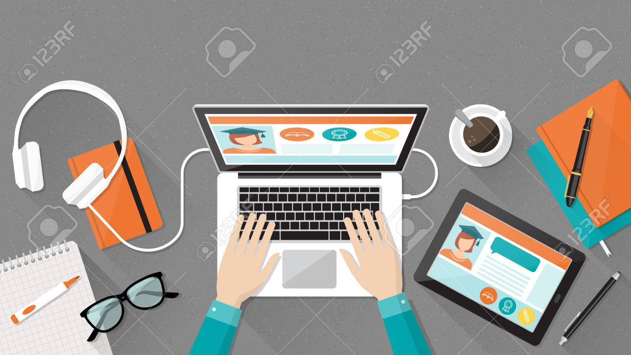 https://previews.123rf.com/images/elenabsl/elenabsl1604/elenabsl160400013/55804370-e-learning-education-and-university-banner-student-s-desktop-with-laptop-books-and-hands-top-view.jpg