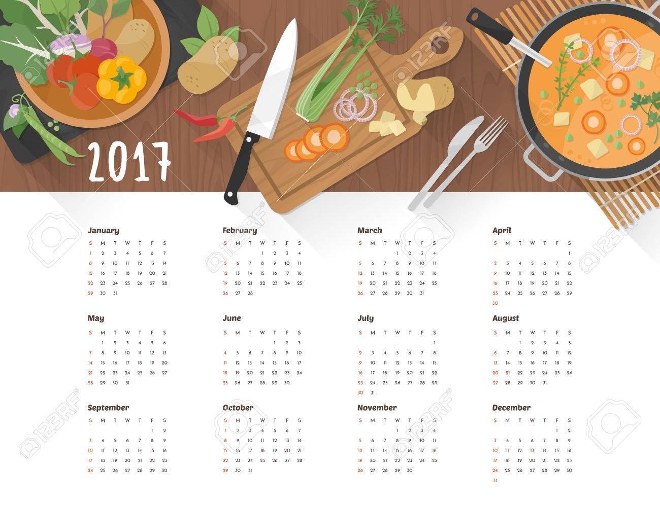 Alimentos Orgánicos Saludables Y La Cocina Vegetariana, Calendario ...