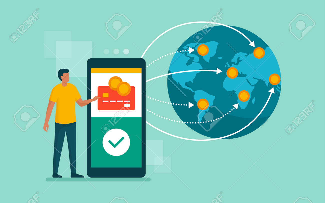 International money transfer and safe transactions - 169454570