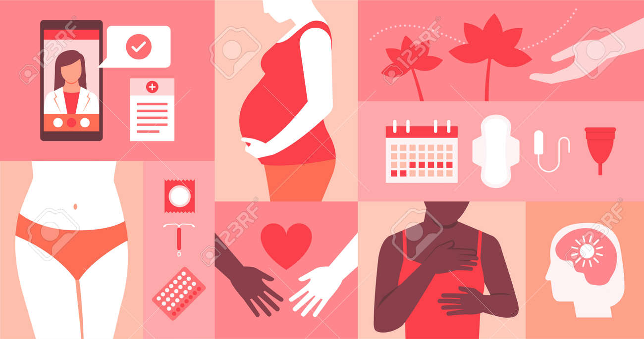 Women's reproductive health, mental health and online medical assistance - 172224701