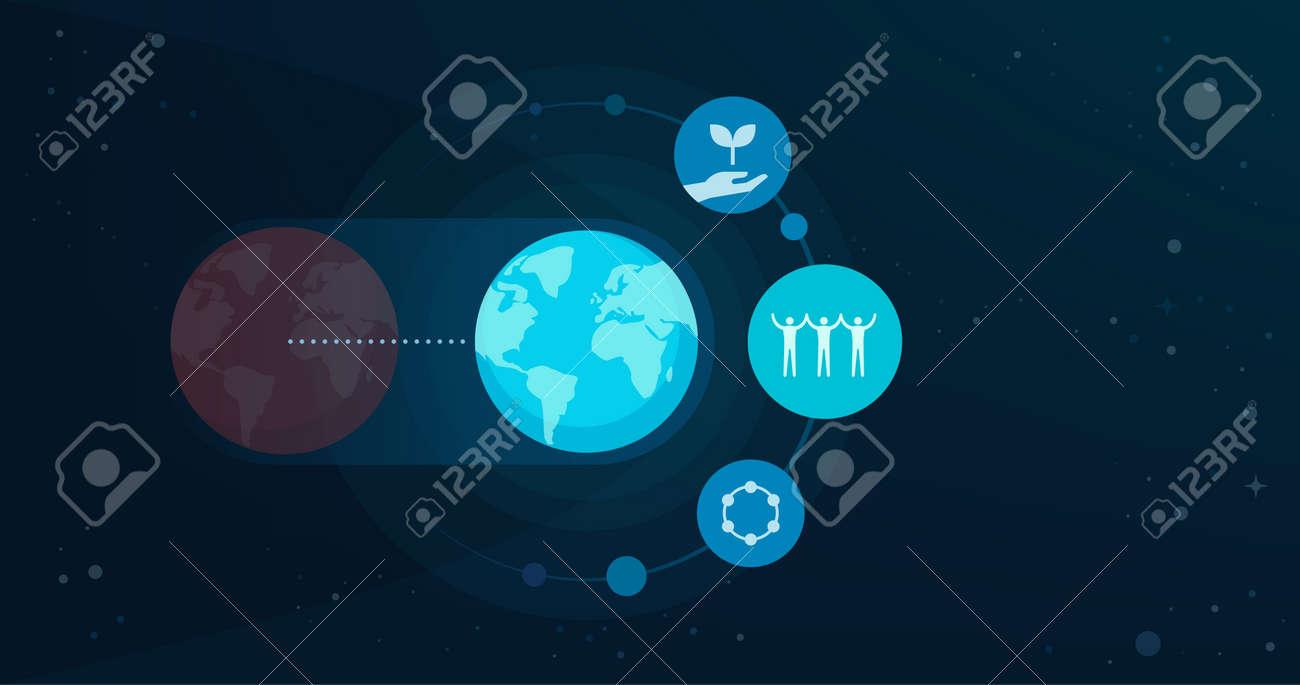New earth and spiritual awakening concept - 171961907