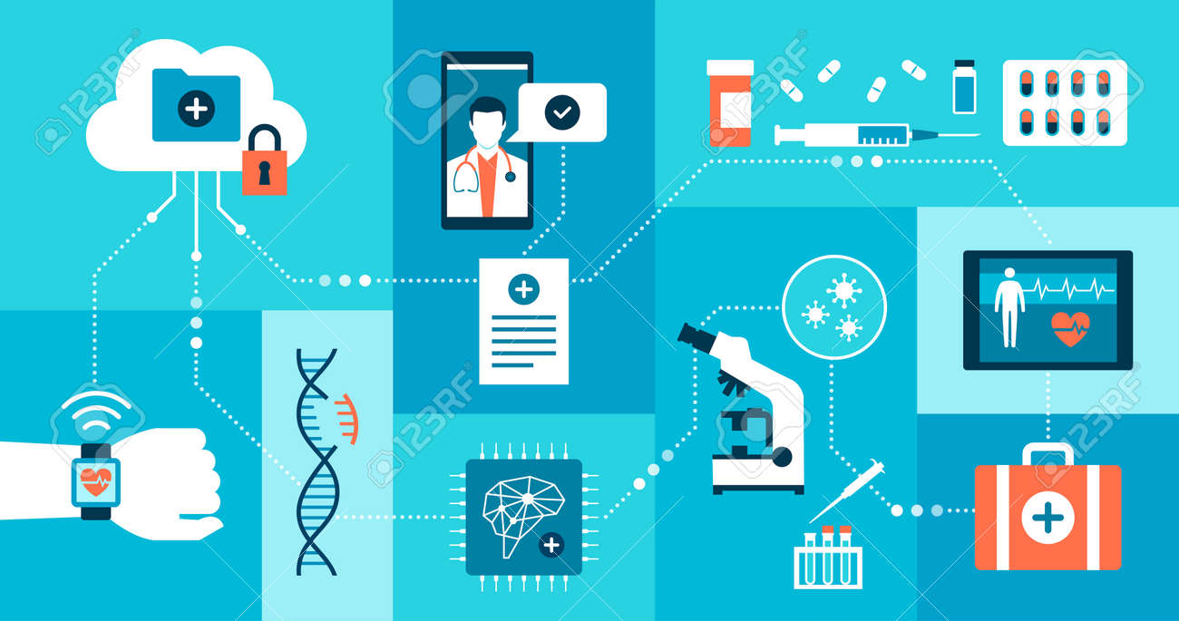 Innovative healthcare, medical research and technology: network of medical data and applications - 172224703