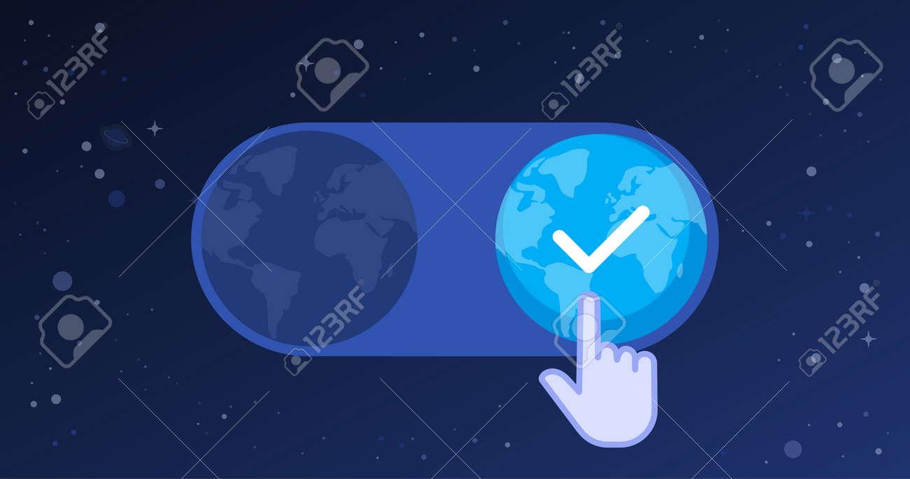 Hand cursor selecting a new earth, evolution concept - 171961833