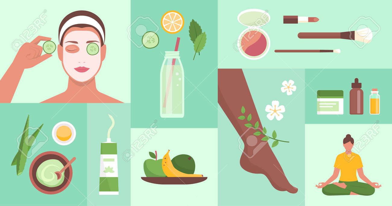Beauty, wellness and natural body care, healthy lifestyle concept - 172224709