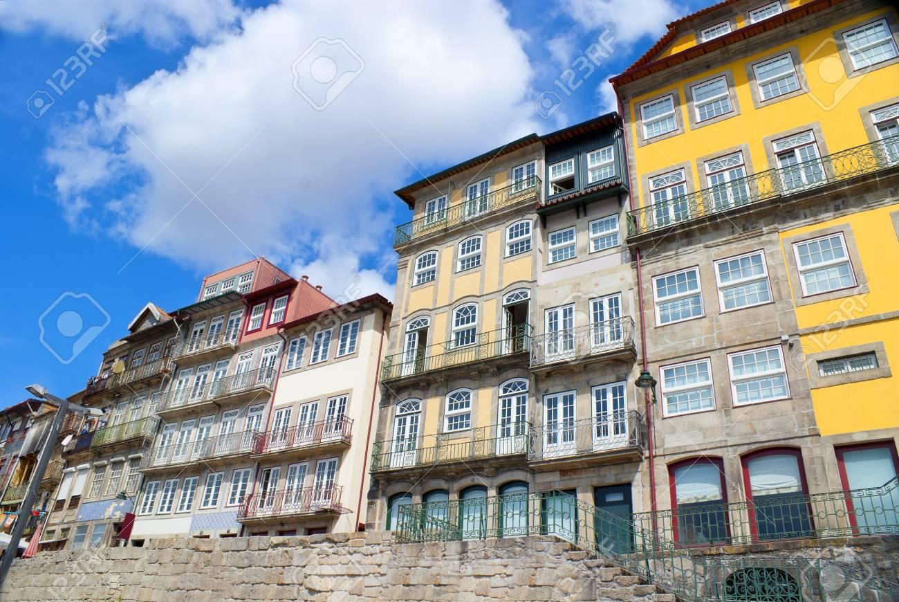 Colourful buildings  Colorful riverside buildings in Porto, Portugal Stock Photo - 17215093