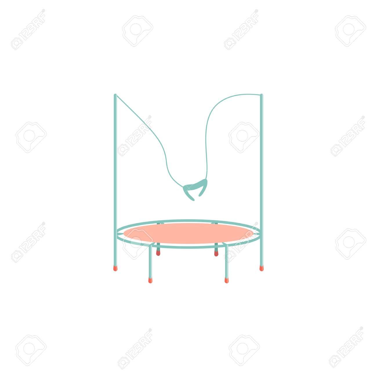 Cartoon trampoline icon. Kids playground. Isolated vector illustration - 101642277