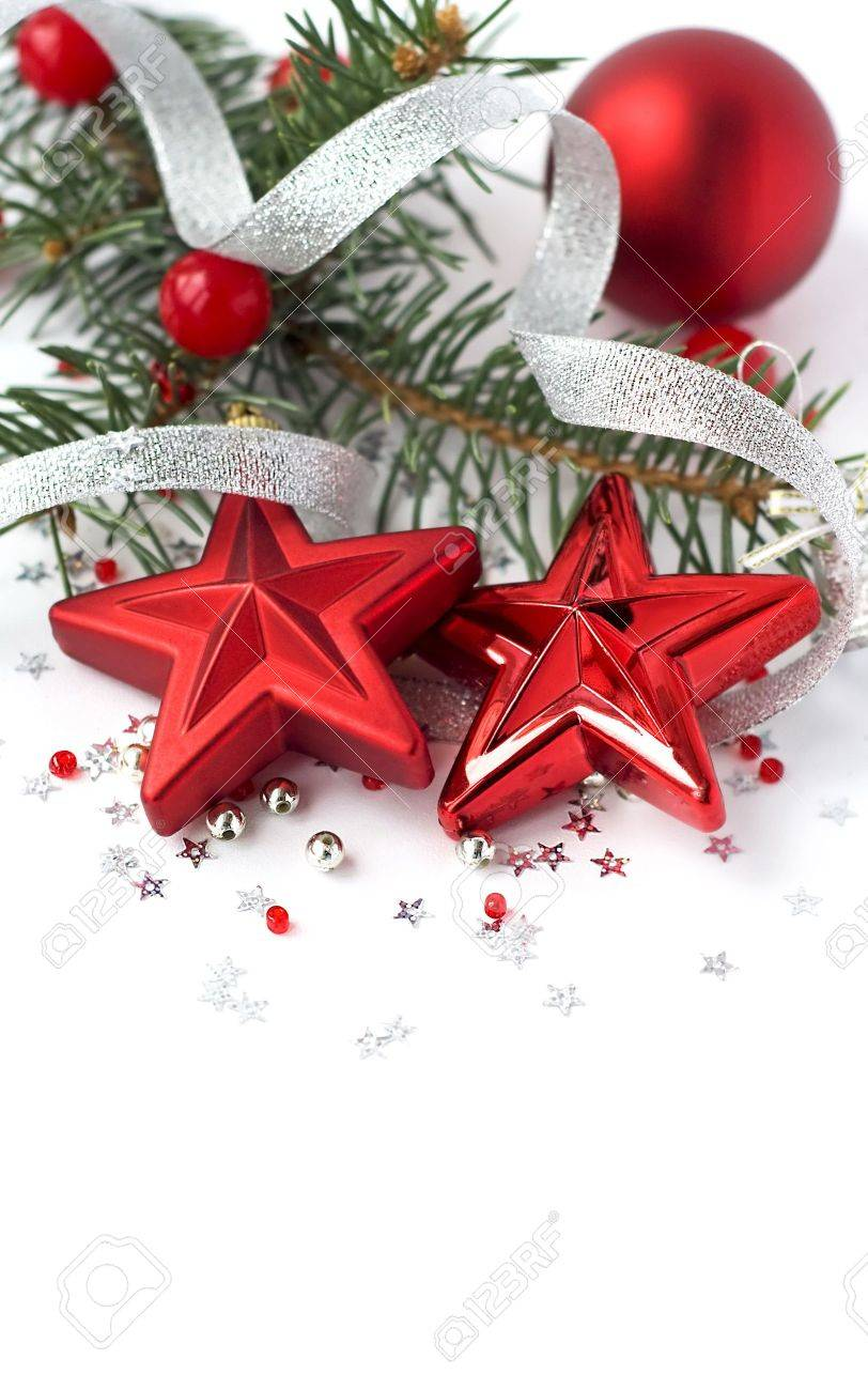 Christmas decoration on the white Stock Photo - 7812982