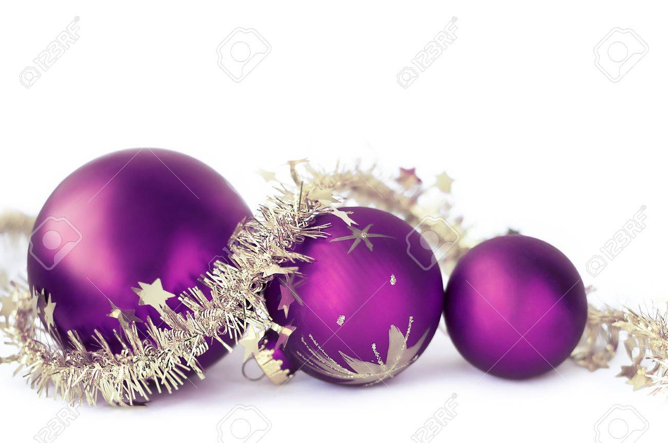 Christmas baubles on the white - 8295948