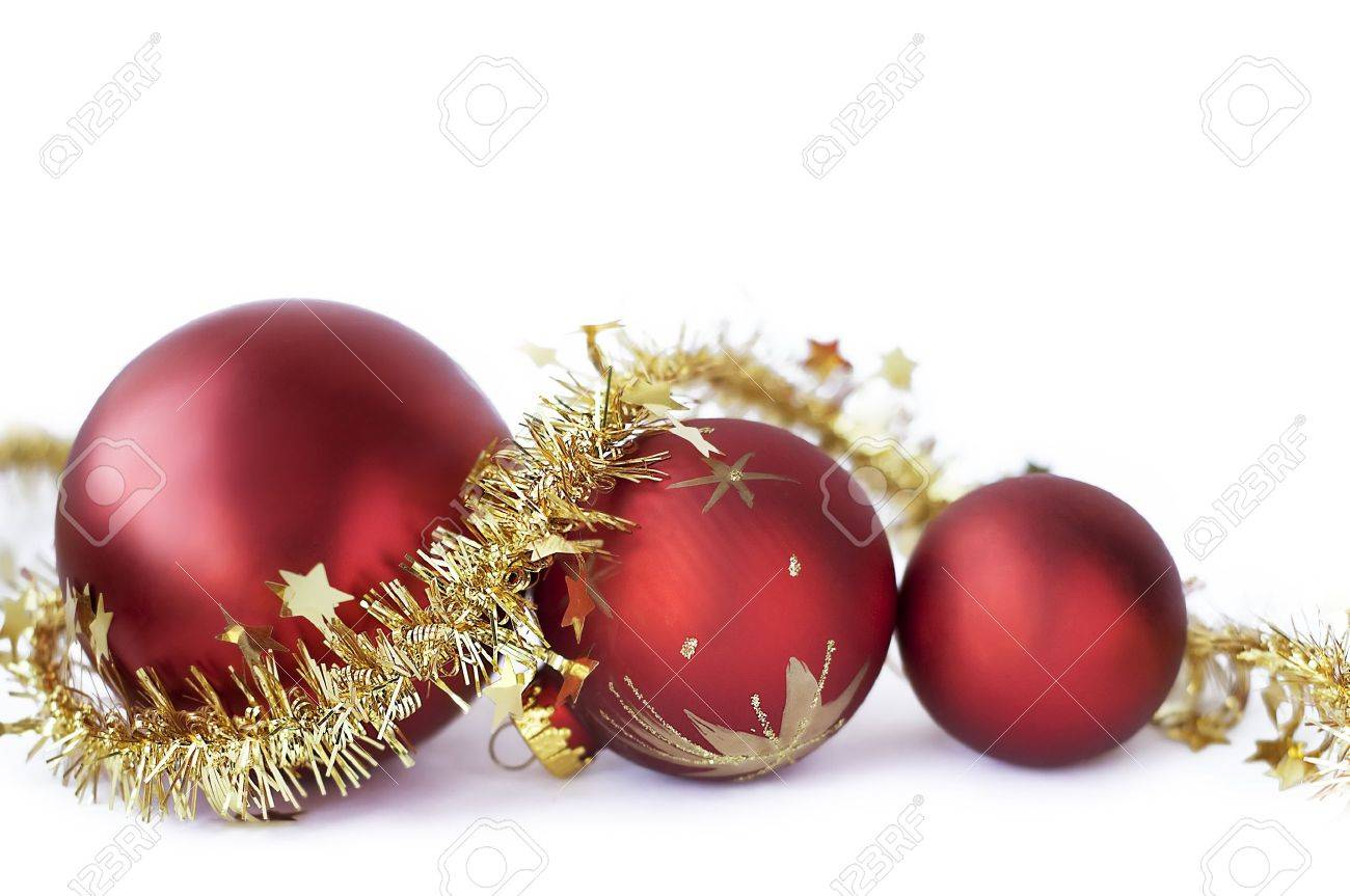 Christmas baubles on the white - 8295944
