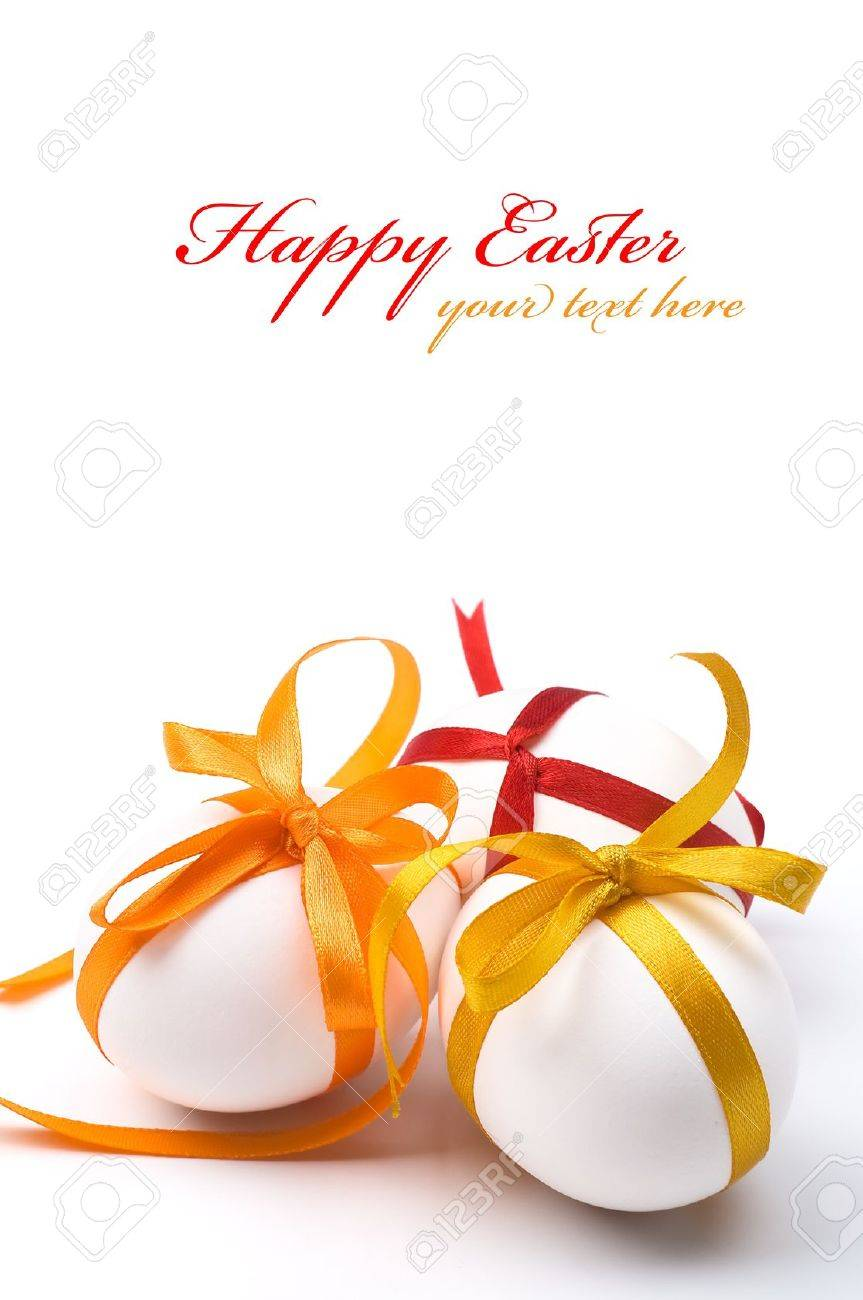 Easter holiday eggs with copy space - 11698324