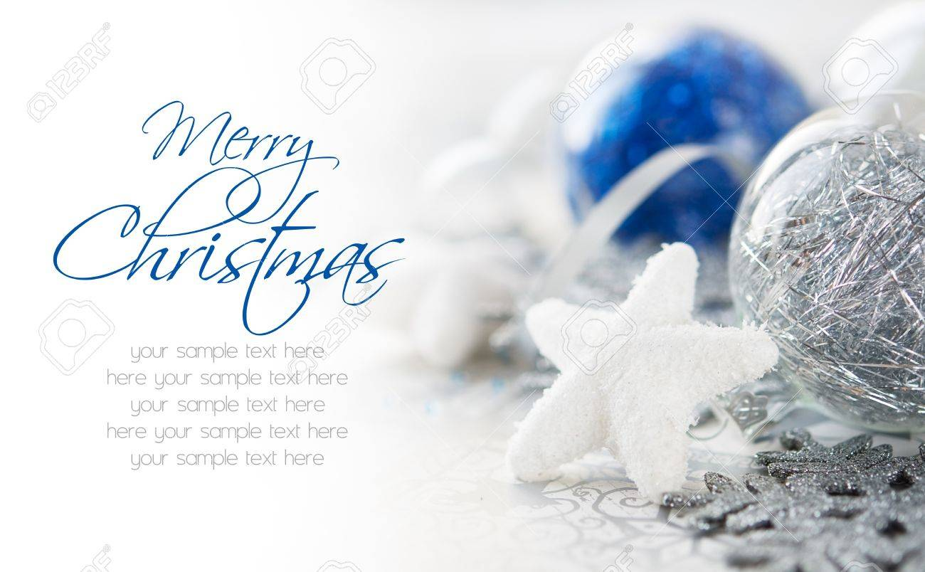 Blue and silver xmas decoration - 15589995