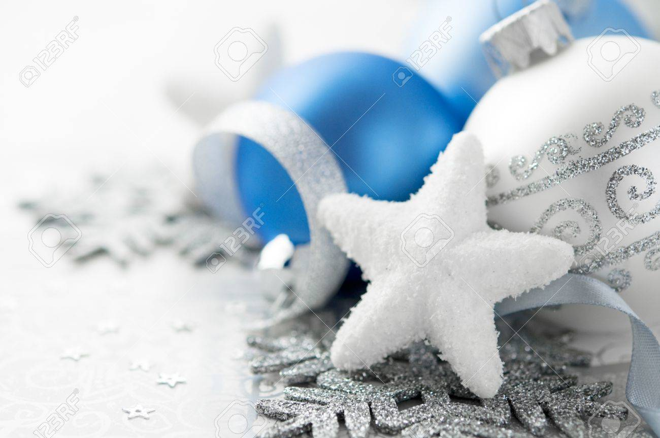 Blue and silver christmas decoration - 21994433