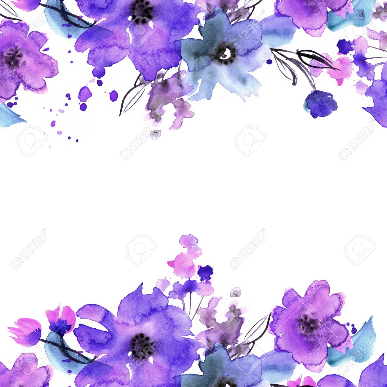 Watercolor Floral Background Hd