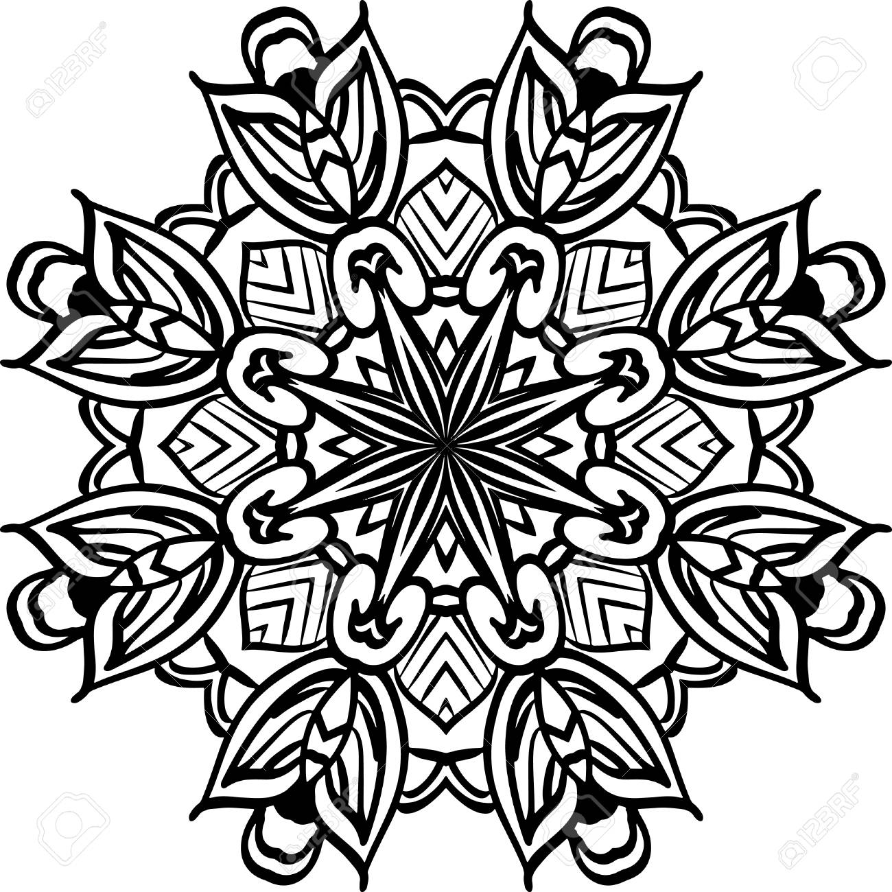 Mandala illustration for backgrounds, coloring books, pattern..