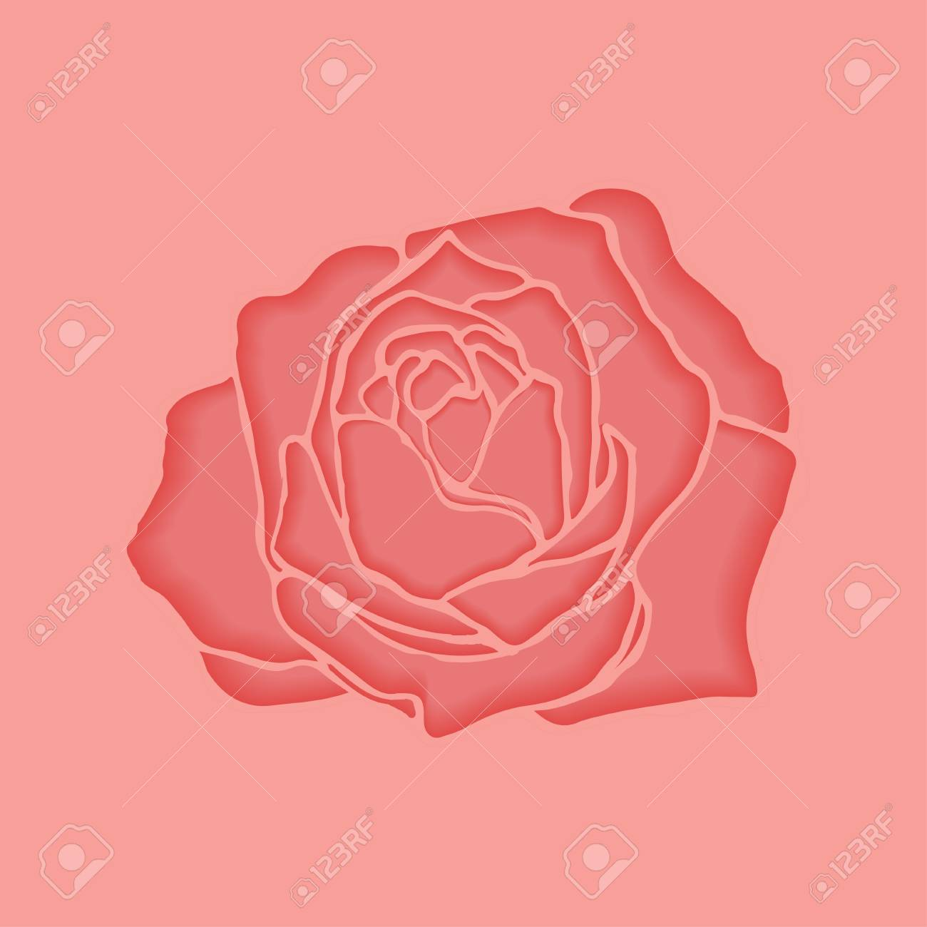 Cut Paper Pink Rose For Backgrounds, Cards, Wedding Invitations ...