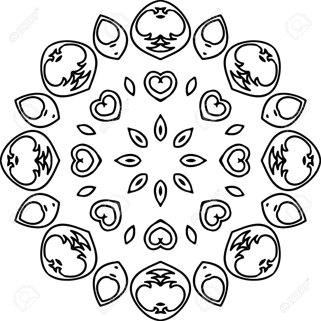 Mandala Illustration Für Hintergründe, Färbung Bücher ...