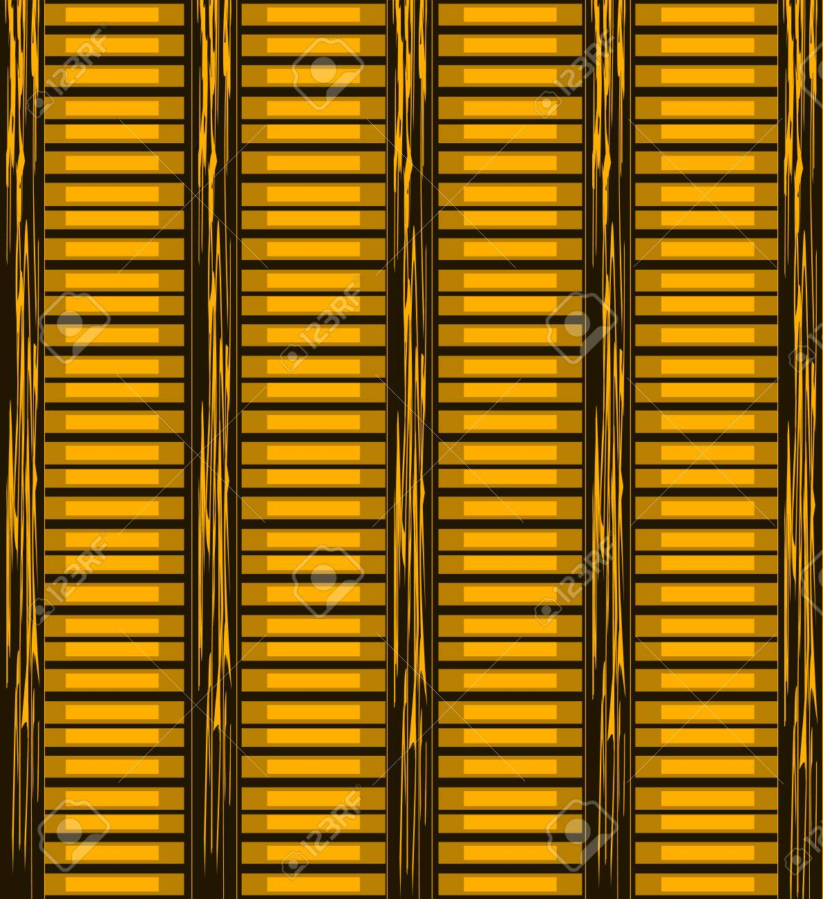 Background Of Wooden Slats. Blinds Vector Background Royalty Free