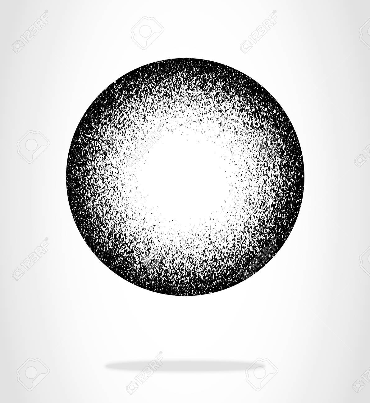 black grunge mottled circle black overlay circle vector element