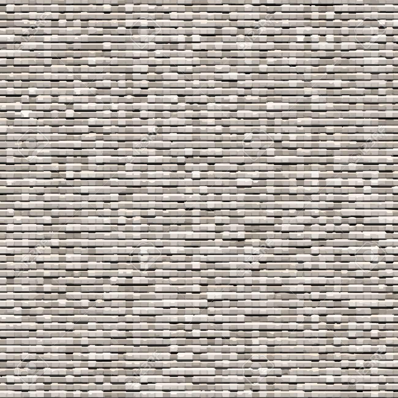 Gray background of small bricks  Grey brick wall texture  Vector