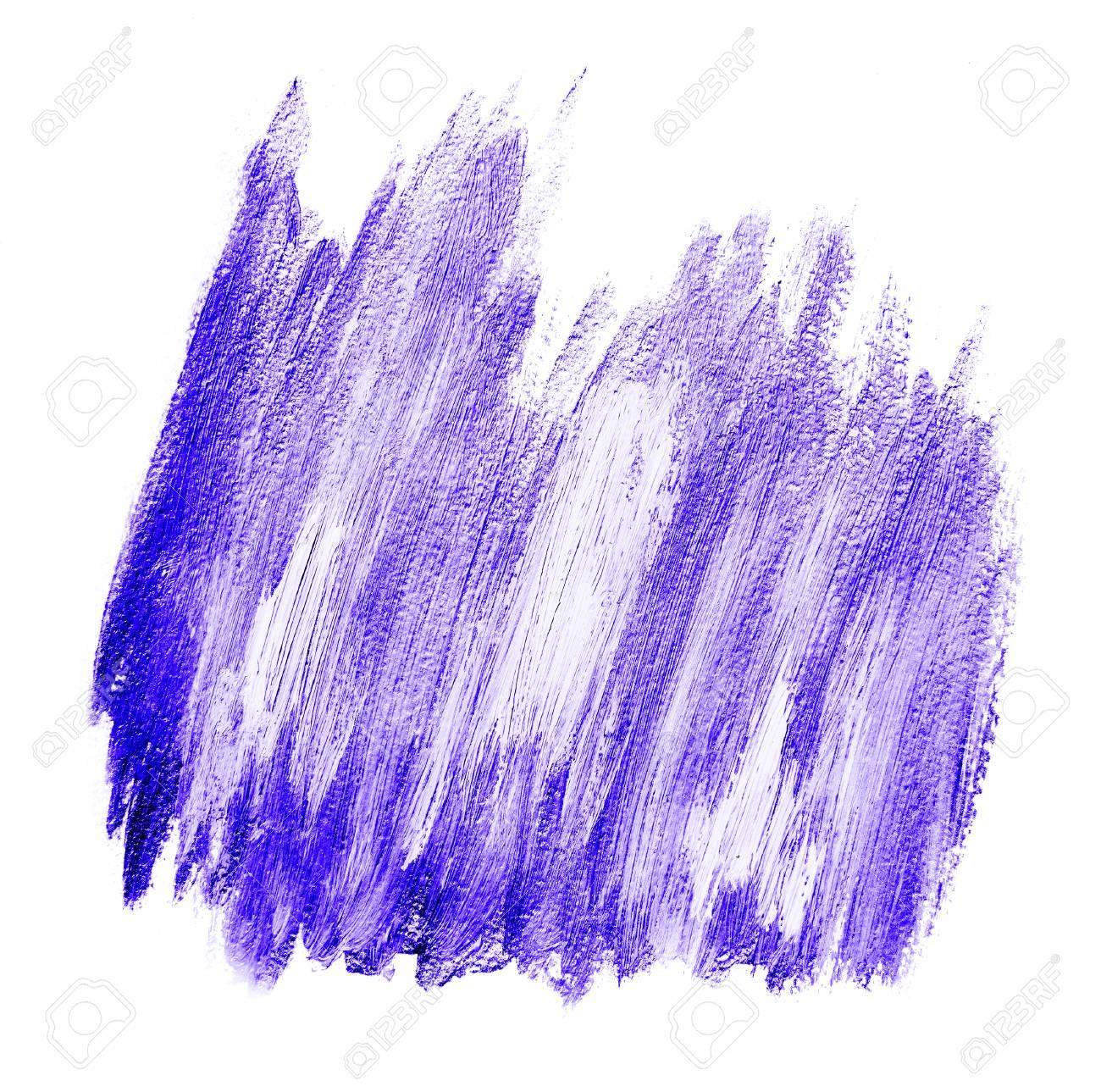 Purple white brushstrokes acrylic banner isolated on white background