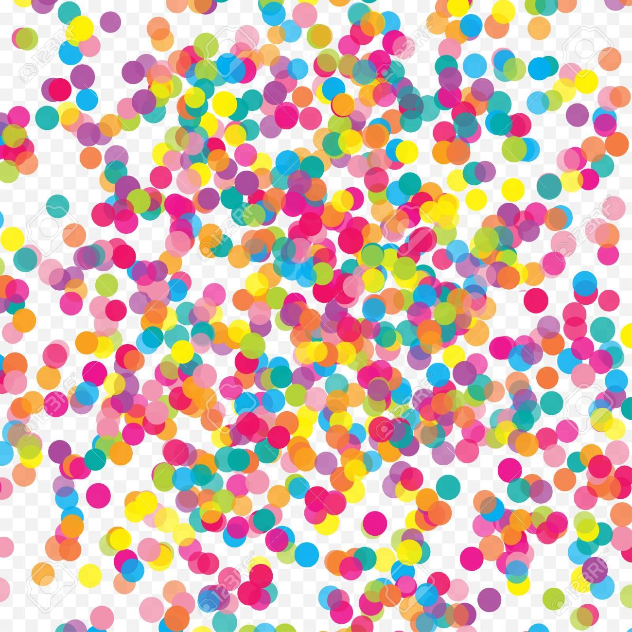 multicolored paper confetti realistic holiday festive carnival