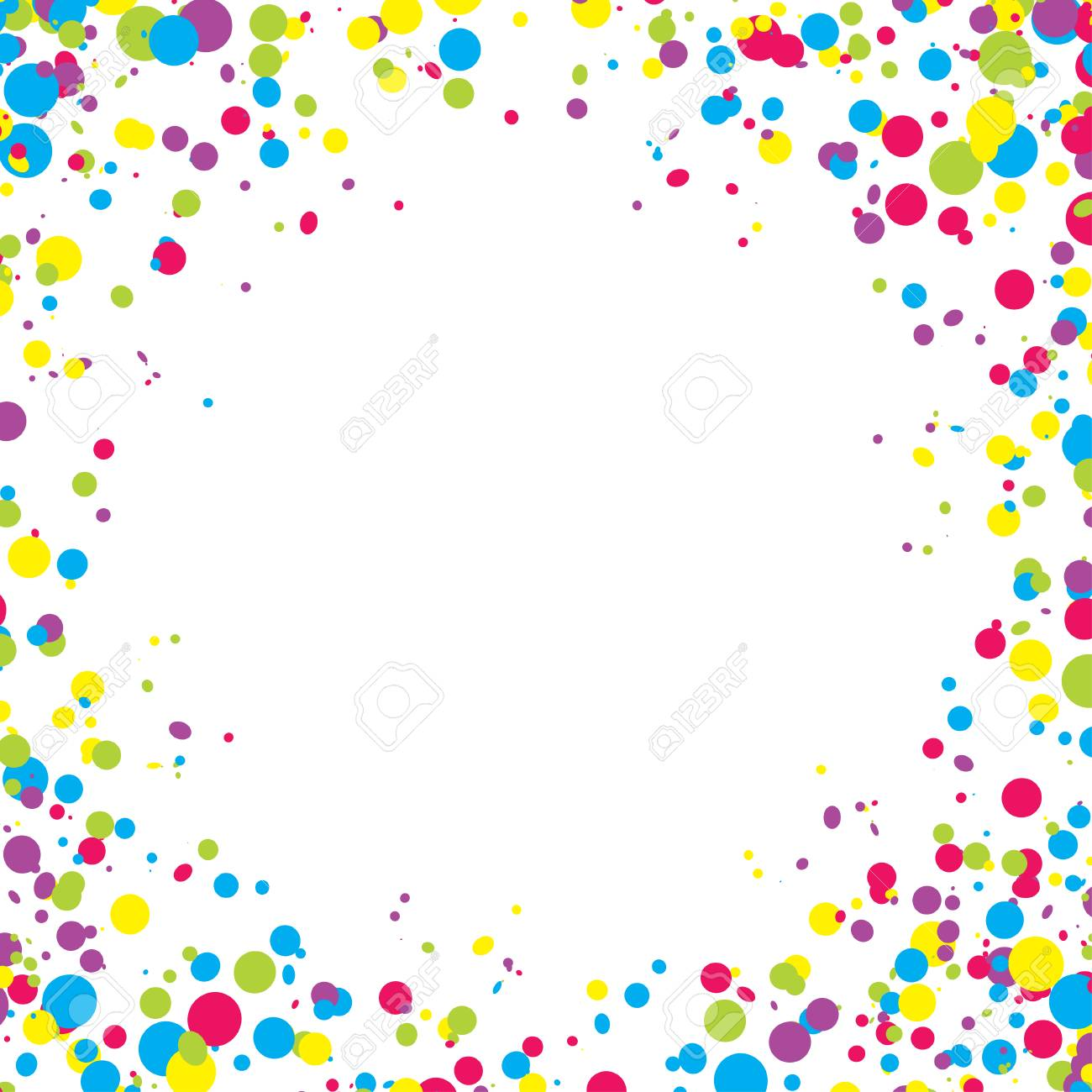 Abstract background with falling multicolored confetti. Empty space for text. Background for holiday cards, greetings. - 84156318