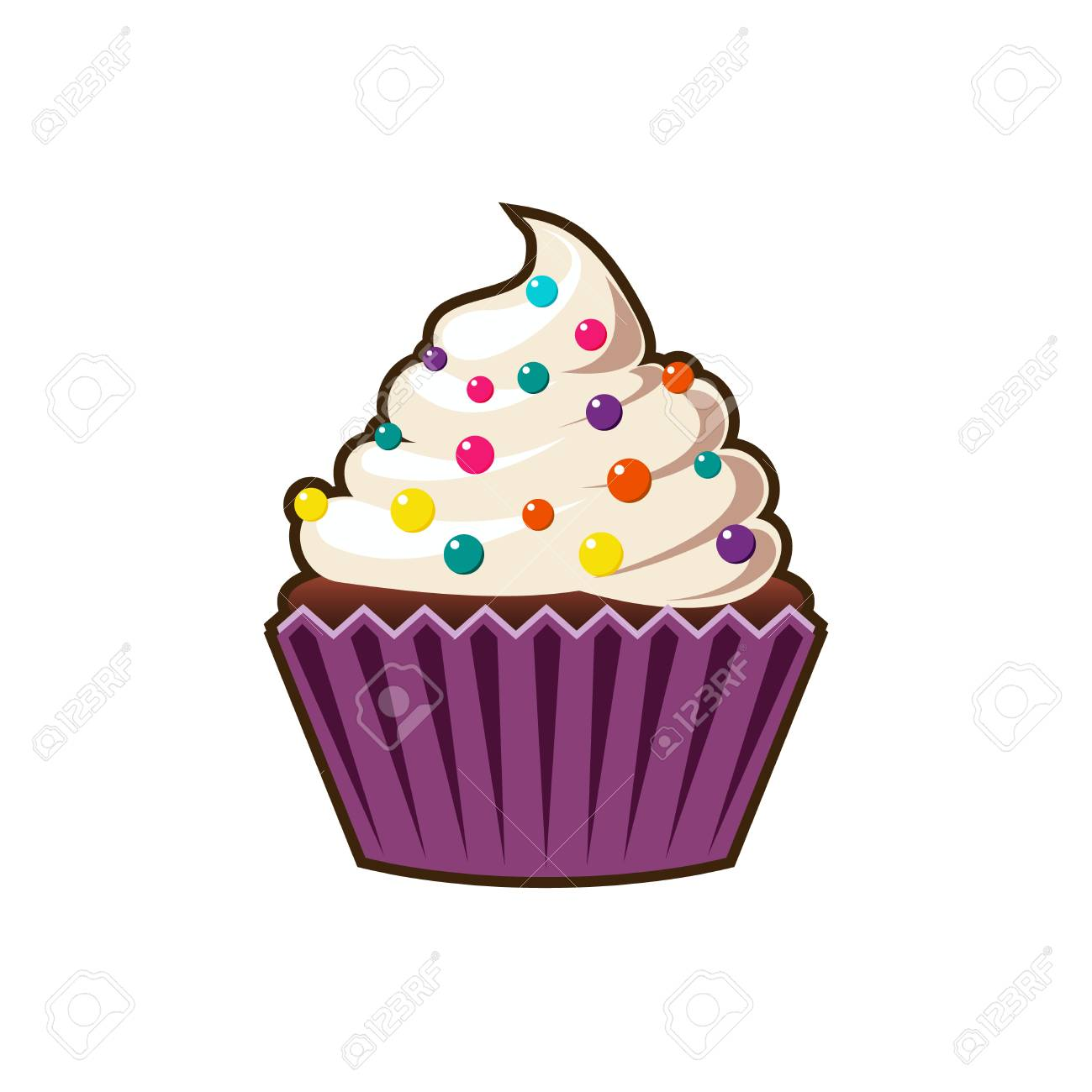 cupcakes cartoon icon royalty free cliparts vectors and stock rh 123rf com cartoon pictures cupcakes cupcake cartoon pictures free