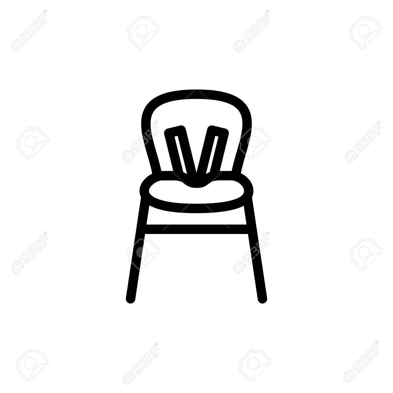 Contour Symbole Enfant Chaise Haute Pour Lalimentation La Conception De Webstie Et Applications Mobiles Enfants Dcrire Les Pictogrammes