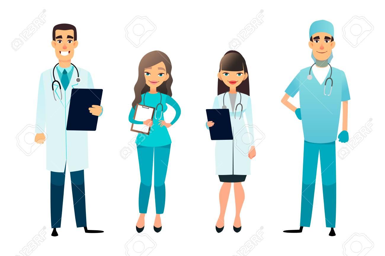 Doctors And Nurses Team Cartoon Medical Staff Medical Team