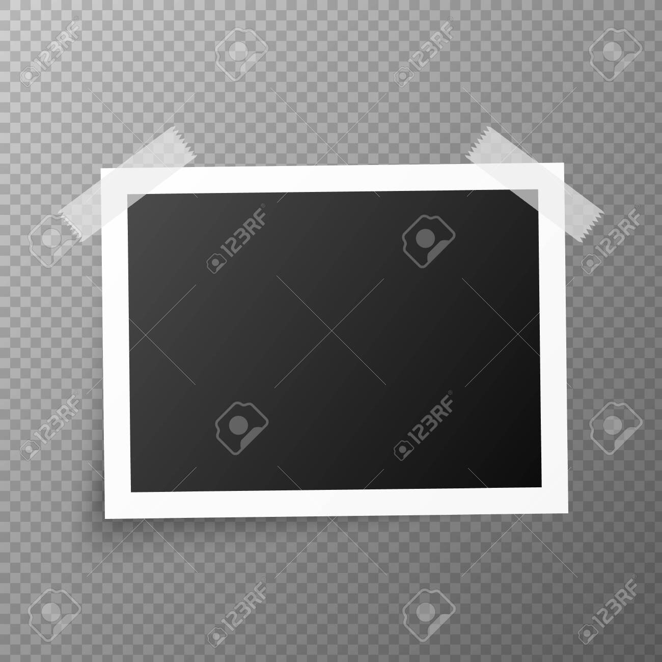 Vintage photo frames. Retro realistic photo set - 136630769