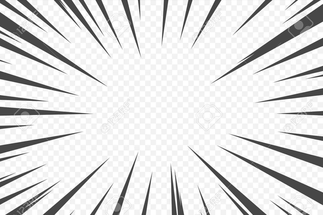 Action comic cartoon speed effect. Black manga movement anime manga flash. Superhero motion radial line. Vector boom rays. Power halftone bang wallpaper - 169711219