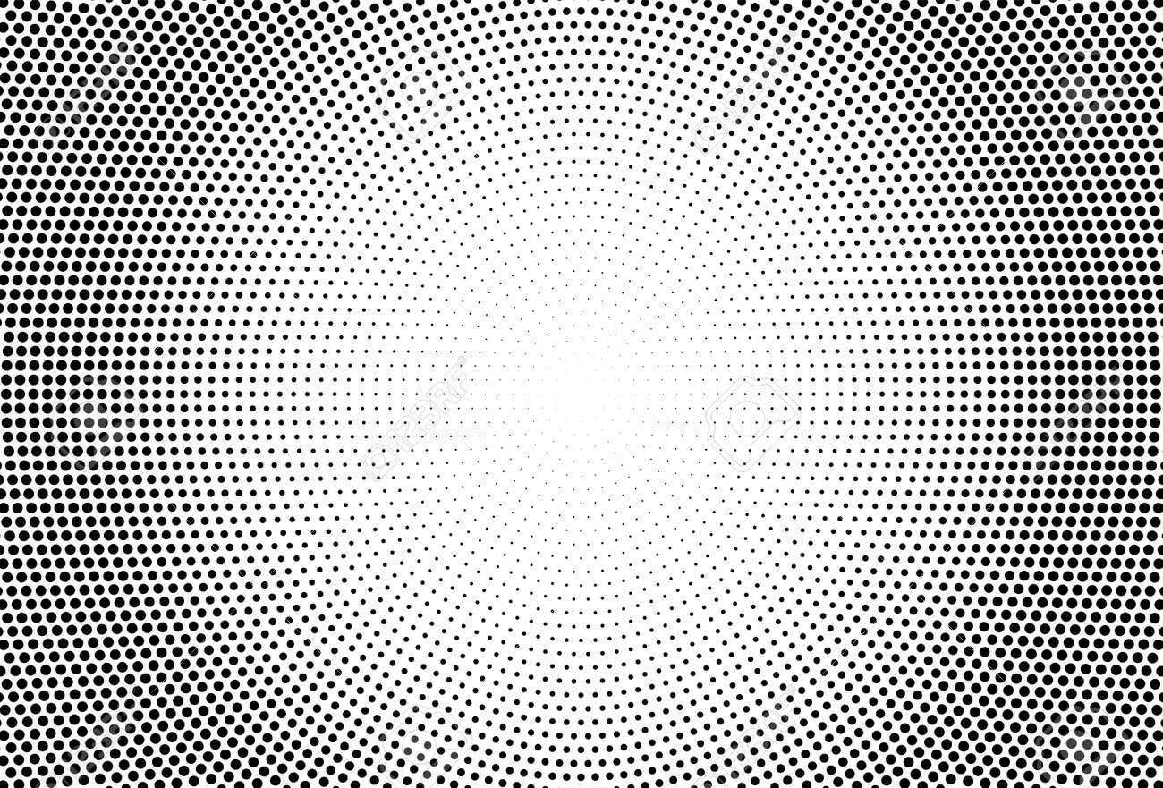 Halftone effect. with Black polka dots. Vector geometric texture - 169711360