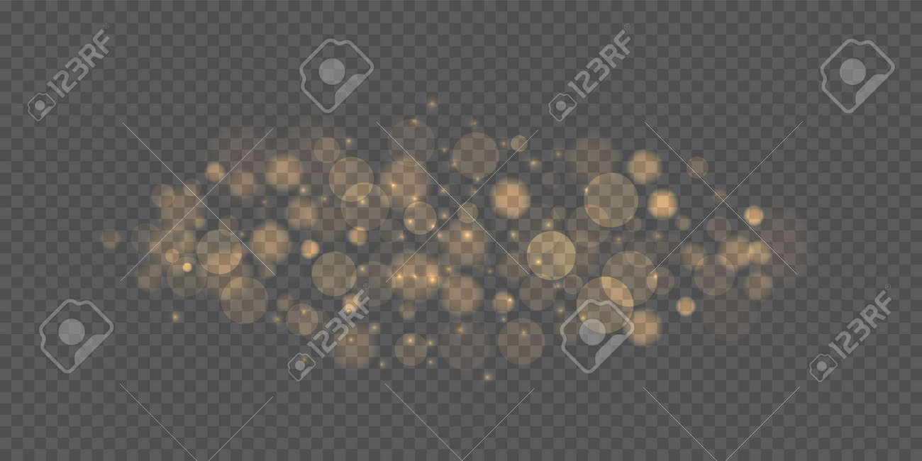 Bokeh lights effect. Festive purple and golden luminous background - 169711367