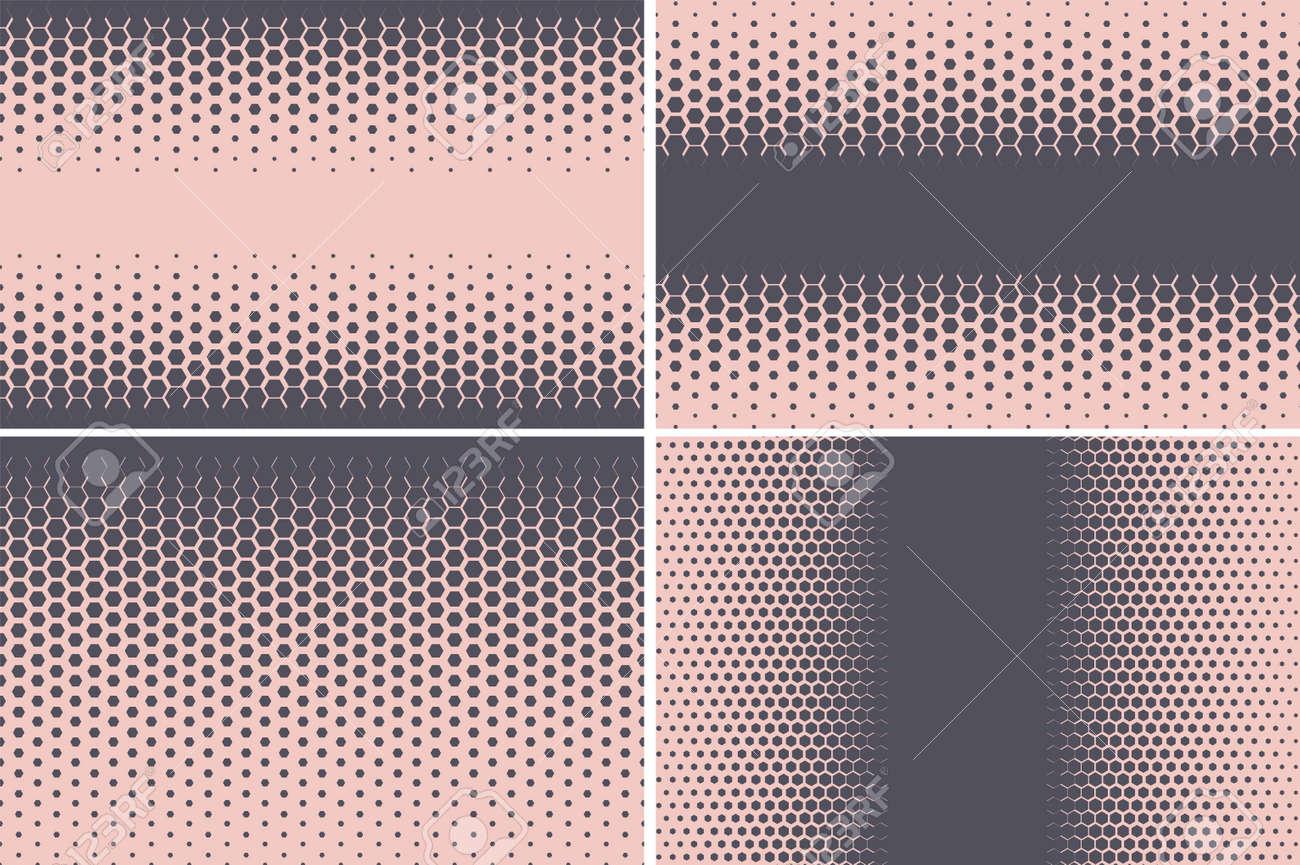 Hexagonal pattern. Geometric hexagon halftone abstract background. Vector - 169764568