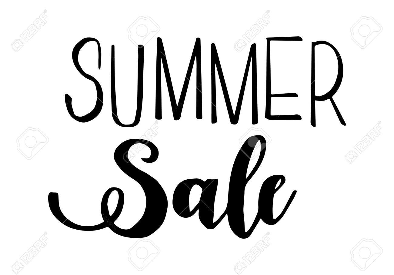 Summer sale lettering. Handwritten trendy phrase. Vector illustration. - 170596935