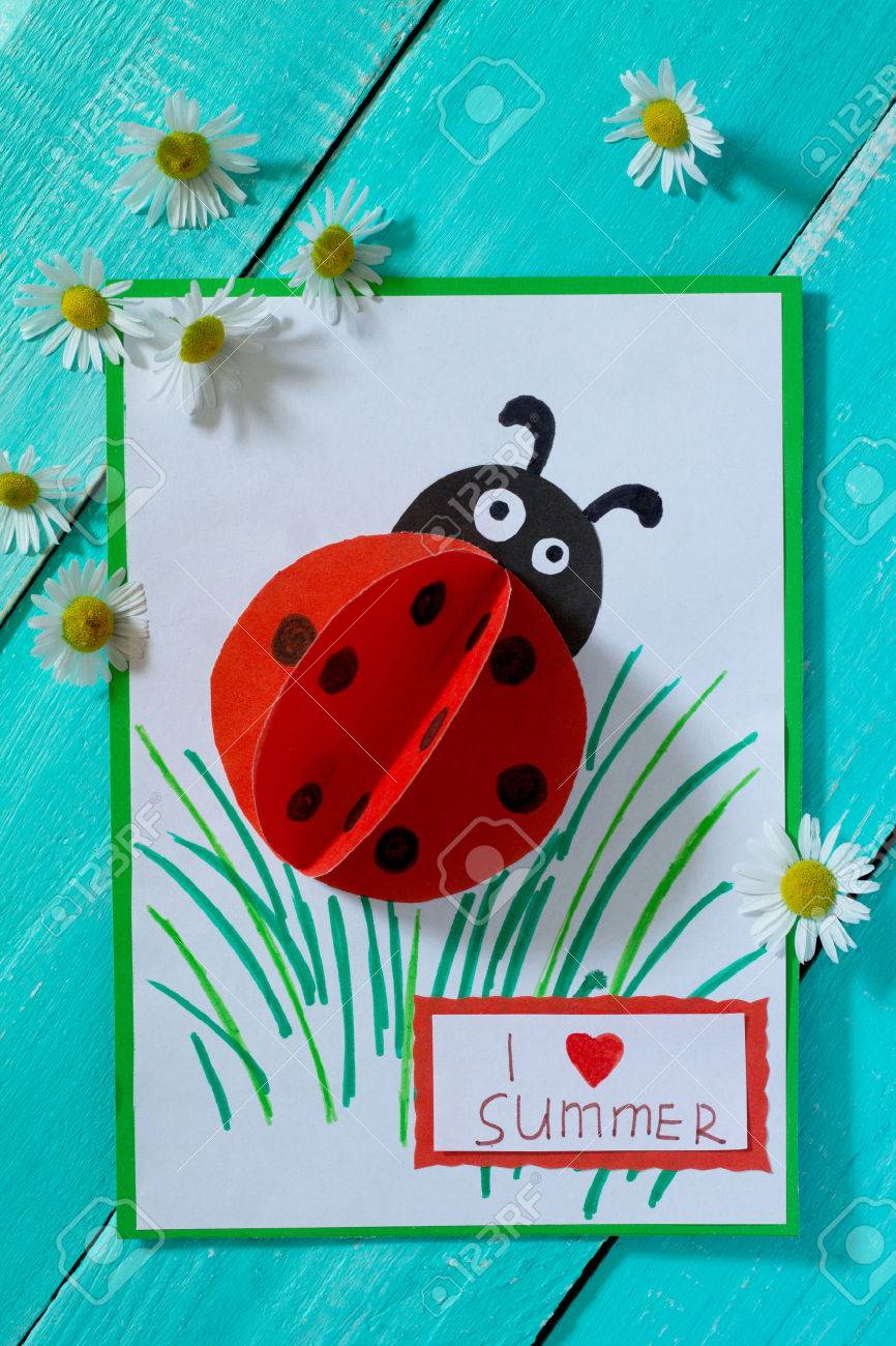 Colored paper ladybugs 7
