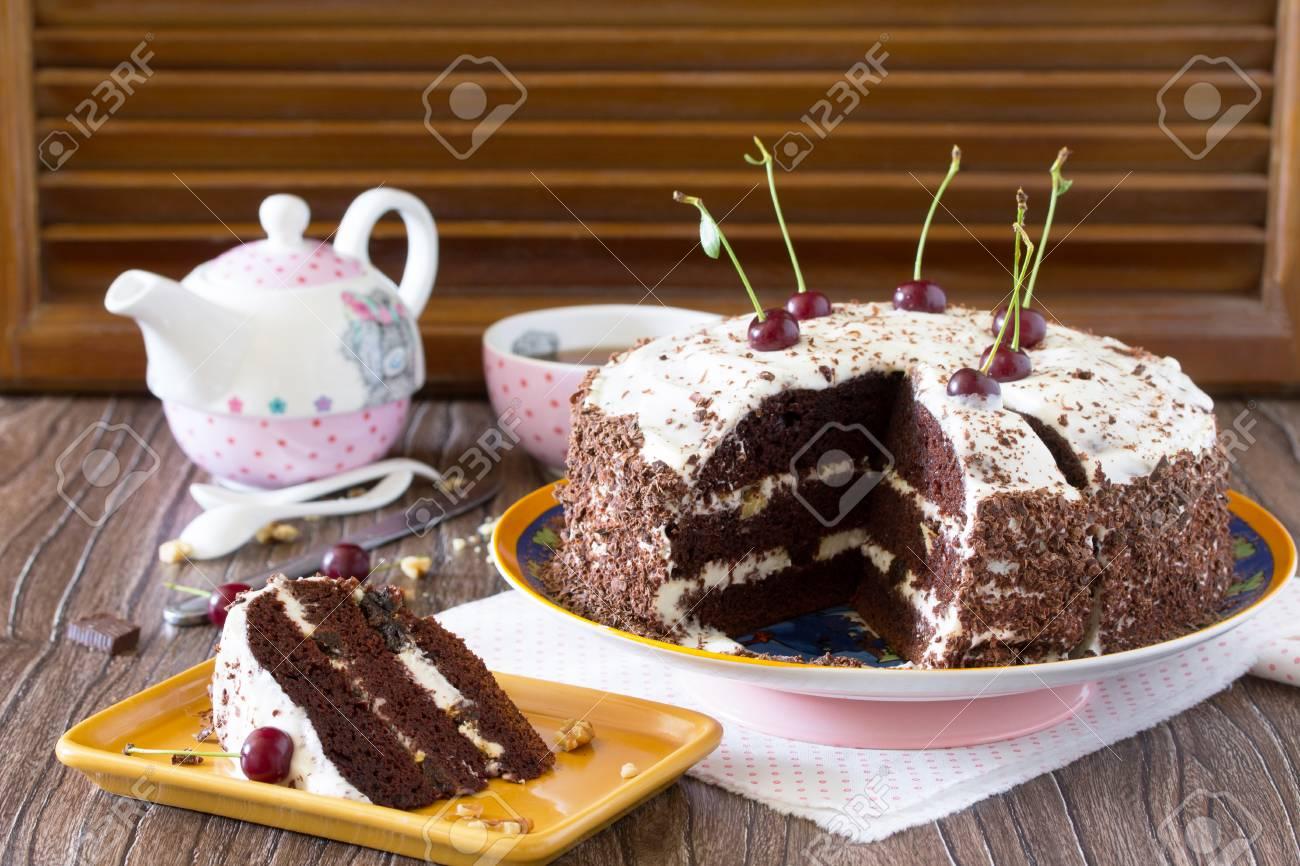 Birthday Cake Black Forest Black Forest Cake Dark Chocolate