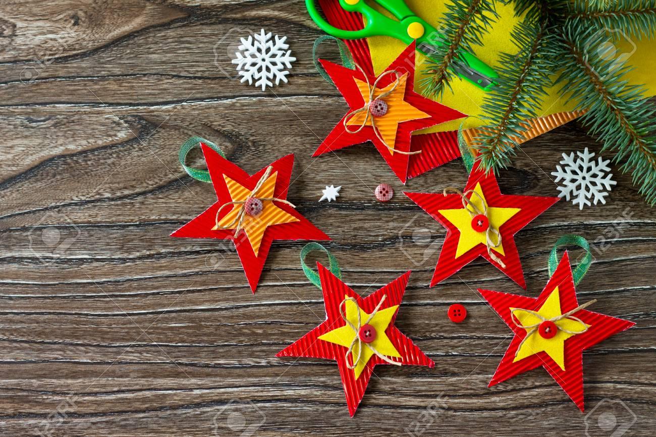 Christmas Tree Toys Handmade.Christmas Tree Toys Star Gift Handmade Project Of Children S