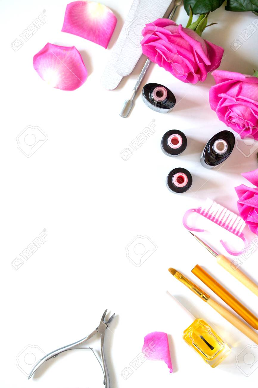 Concept Nails Care Background Manicure Pedicure Beauty Salon Stock Photo Picture And Royalty Free Image Image 122685755