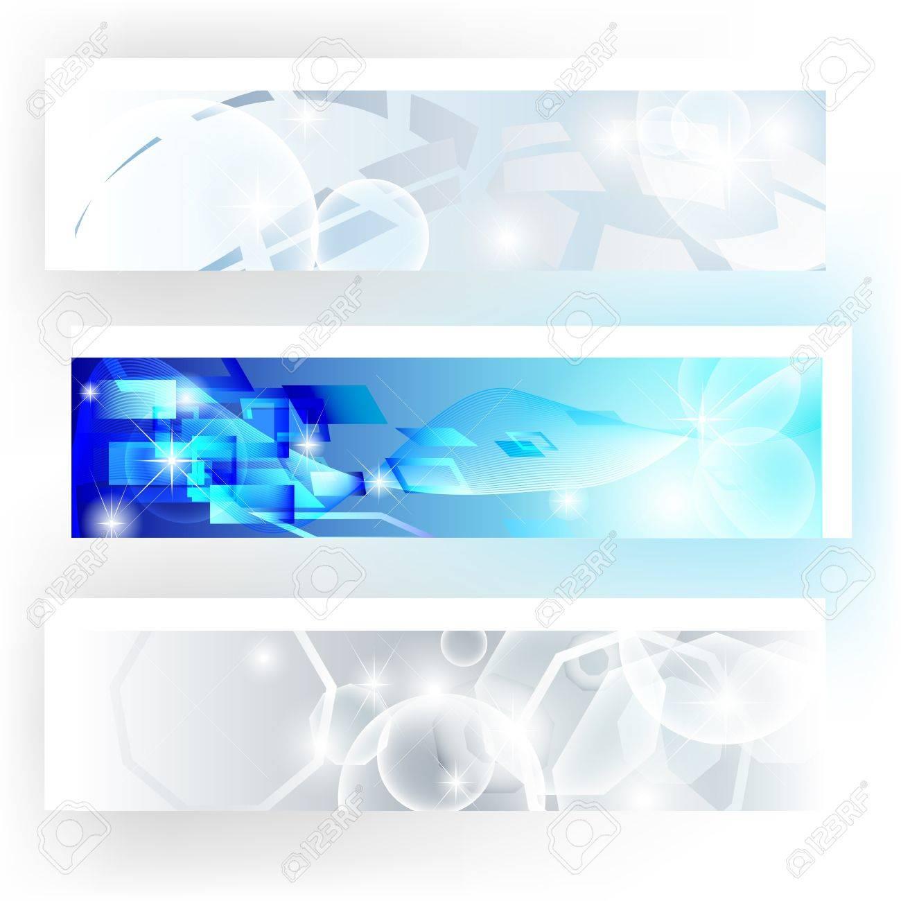 Banner gravi nei colori grigio e blu utili per sito web aziendale Archivio Fotografico - 12822435